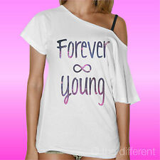 """CAMISETA DE MUJER CUELLO BARCO SUÉTER """" FOREVER JOVEN """"IDEA ROAD TO HAPPINESS"""