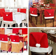 1/2/4 Christmas Santa Hat Dining Chair Back Covers Party Table Decoration