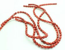 Apple Coral 4x6mm Potato Nugget Beads 16