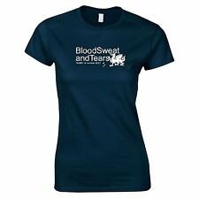 Blood Sweat And Tears Gales Six Nations 2017 Mujer camiseta de Rugby