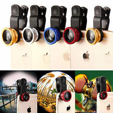 3 in 1 Universal Fisheye Wide Angle Mobile Camera Micro Clip Lens iPhone Samsung