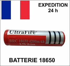 BATTERIA rechargable ULTRAFIRE batteria 18650 3.7V LI-ION 4200 mAh LED