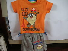 baby boys looney tunes Tshirt and shorts set