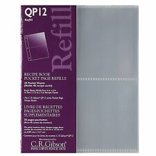 C.R. Gibson Pocket Page Refill Sheets For QP12 Pocket Page Recipe Book – QP12