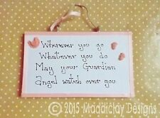 Baby Guardian Angel Blessing Quote Plaque New Baby Christening Gift Idea