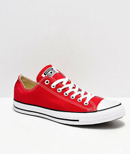 Converse Chuck Taylor Ox Low Top Red White Mens Womens Canvas Shoes Sizes