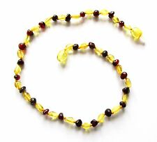 Genuine Baltic amber necklace child children amber baby to teen size mixed beads