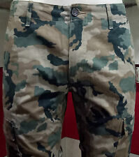 Mens Cargo cotton  Full Pant Cotton Casual Trouser Army Print size (28-38)