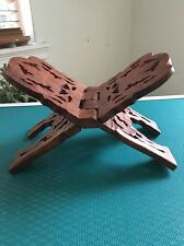 Book Stand Holder Handcrafted In Wood From India