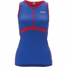 Zoot Performance Ladies Triathlon Tri Tank Top Blue/Red  *NEW*