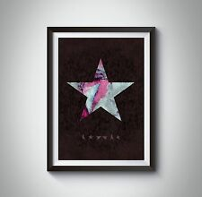David Bowie Poster. Blackstar Abstract Painting Print.  David Bowie Gift