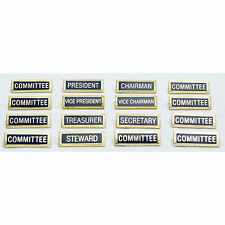 Club Committee Metal Name Badges - Secretary / President / Chairman etc.