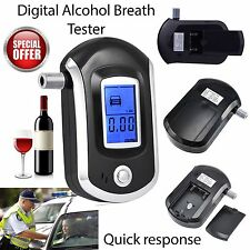Digital Alcohol Portable Breathalyser Breath Tester Blue LCD Breathtester IMS