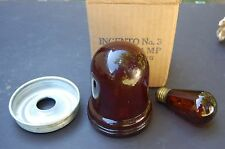 Vintage Darkroom Safety Light Ingento No. 3 Ruby Lamp Complete Outfit NOS