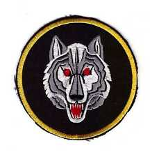 Tactical Army Morale Biker Motorcycle Patch White Arctic Wild Lone Wolf