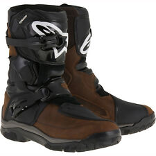 Motorcycle Alpinestars Belize Drystar Oiled Boots WP - Brown UK Seller