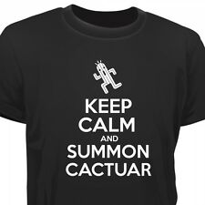 KEEP CALM AND SUMMON CACTUAR - FF FINAL FANTASY INSPIRED T-SHIRT
