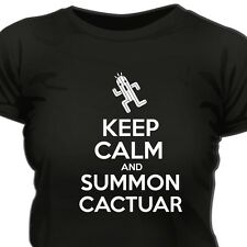 KEEP CALM AND SUMMON CACTUAR - FF FINAL FANTASY INSPIRED WOMAN T-SHIRT