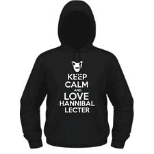 KEEP CALM AND LOVE HANNIBAL LECTER - HANNIBAL INSPIRED HOODIE