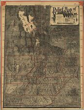 Photo Reprint Antique American Cities Towns States Map Utah