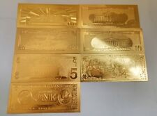 24K Gold Commemorative Notes A Dollar Bills Double Currency Gifts American Coin