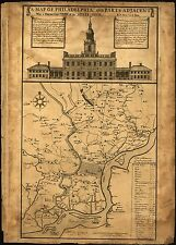 Photo Reprint Antique American Cities Towns States Map Philadelphia