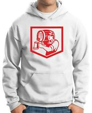 Felpa Hoodie BEER0153 Barman Lifting Barrel Pouring Beer Mug Retro