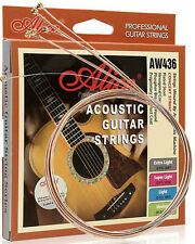 3 PACK set ACOUSTIC GUITAR STRINGS phosphor bronze ANTI RUST Various Gauges UK