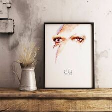 David Bowie Poster. Ziggy Stardust Painting Print.  David Bowie Gift