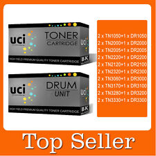 2 Toner + 1 Drum Compatible High Yied Premium for Brother printer