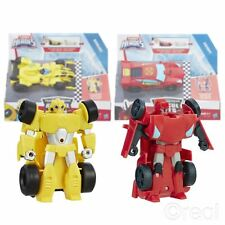 New Transformers Rescue Bots Sideswipe/Bumblebee Pull Back Car Figure Official