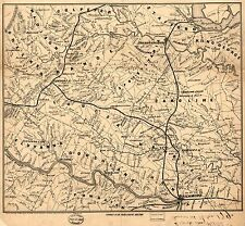 Photo Reprint Antique American Cities Towns States Map Virginia