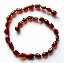 Genuine Baltic amber necklace child children amber baby to teen size dark cognac