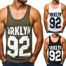 OZONEE BREEZY 9078 Men's Tank Top Basic T-Shirt Vest Muscle Shirt Size M - XL