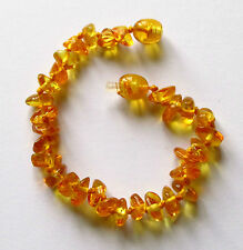 Natural Baltic amber bracelet anklet child amber baby to teen sizes honey beads