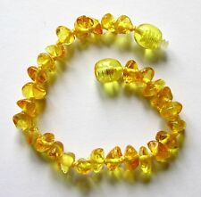 Natural Baltic amber bracelet anklet child amber baby to teen sizes lemon beads