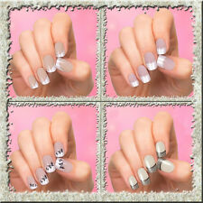 24 faux-ongles full cover + colle 2g nail art tips - 31 modèles disponible - TCA