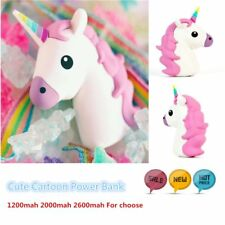 New Emoji Unicorn Cartoon Portable Charger External Backup Battery Power Bank M*