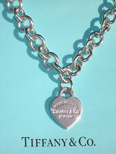 Tiffany & Co Return to Tiffany Sterling Silver Heart Tag Necklace