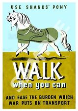 Walk when you can :  WW2 public information advert ,  Poster reproduction.