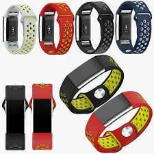 Sports Silicone Wrist Watch Strap Replacement Band Bracelet For Fitbit Charge 2