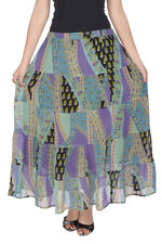 GOODWILL Women's Casual Wear Multicolor Georgette Skirt (GW-678)