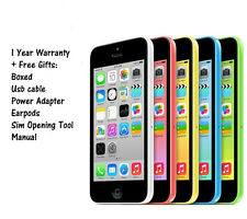 Apple iPhone 5c 32GB Factory Unlocked Smartphone BOXED - NO SCRATCHES - GRADE A