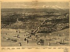 Photo Reprint Antique American Cities Towns States Map Chicago