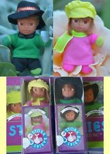 Stork Baby Matchbox Doll With Bed Brown Black Skin Mini Bean Babies Dolls