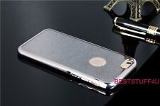 GLITTER BACK Fits IPhone  Soft Bling Shock Proof Silicone Case Plating Frame w24
