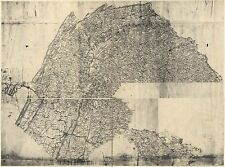 Photo Reprint Antique American Cities Towns States Map Pennsylvania