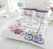 Follow Your Dreams Duvet Quilt Cover With PillowCases Bed Set Single Double King