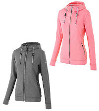 Hi-Tec Jina Womens Hooded Jacket Zip Fleece Jumper Hoodie Hoody