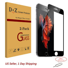 2PK For iPhone 7/8 Plus Full Curved Screen Tempered Glass Edge to Edge Protector